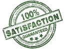 We offer a 100% Satisfaction Guarantee